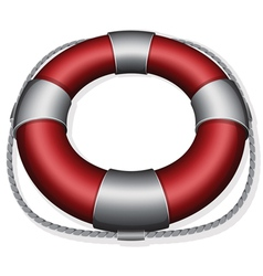 Marines red life buoy vector
