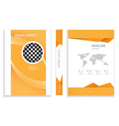 modern orange business brochure design vector image