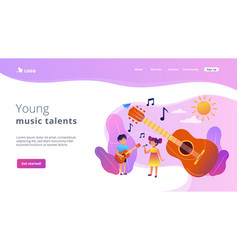 Musical camp concept landing page vector
