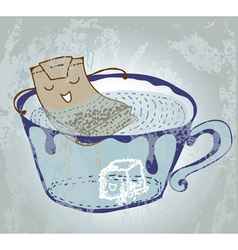 nice tea time vector image