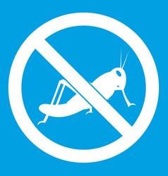 No locust sign icon white vector