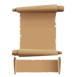Old Scroll paper isolated on white vintage paper vector image