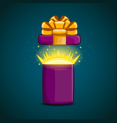 open gift box with a surprise inside vector image