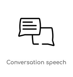 Outline conversation speech bubbles icon isolated vector