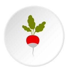 Radish icon flat style vector