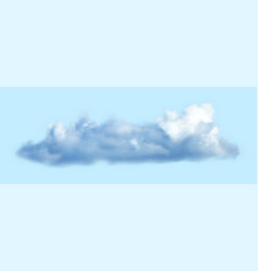 realistic cloud over transparent background vector image