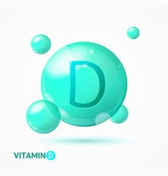 realistic detailed 3d vitamin d background card vector image