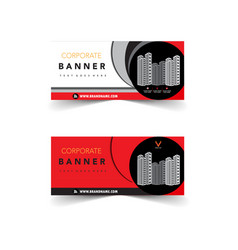 red corporate banner design vector image