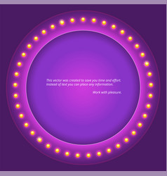 Retro circular background with light bulbs vector