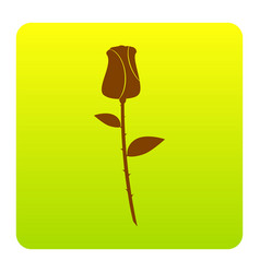 rose sign brown icon at vector image