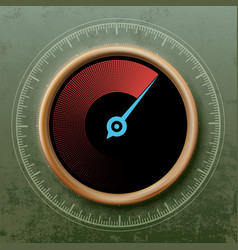 round speedometer with an arrow vector image