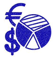 Sales pie chart icon grunge watermark vector
