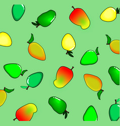 seamless pattern with colorful of mango background vector image