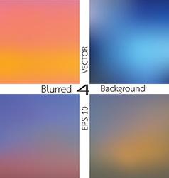 set of 4 blurred background vector image