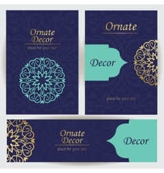 Set template frame for greeting card vector