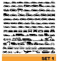 Set transportation icons vector