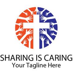 Sharing caring vector