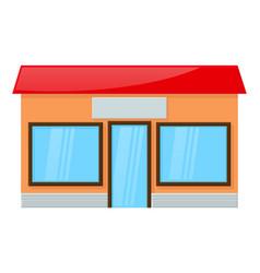 shop building front view vector image