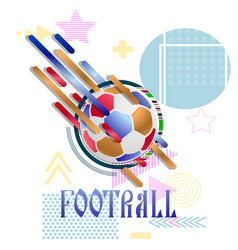 soccer ball on an abstract background vector image
