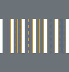Straight seamless roads vector