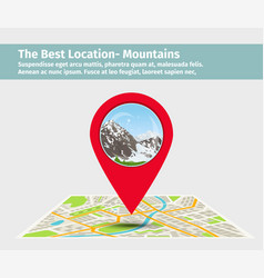 the best location mountain vector image