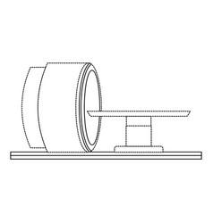 Tomography scanner machine icon vector