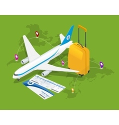 Travel isometric composition Travel and tourism vector