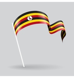 Ugandan wavy flag vector