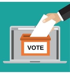 Voting online concept vector