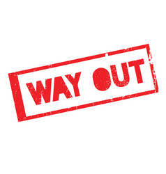 Way out rubber stamp vector