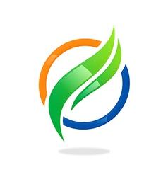 business finance round swirl logo vector image