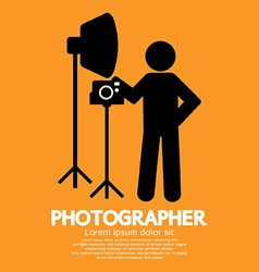 Photographer Graphic Symbol vector image vector image