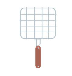 Steel barbecue grill grid vector