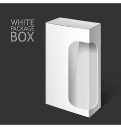 White package box with window mockup template vector
