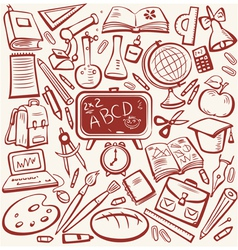 education sketch vector image vector image