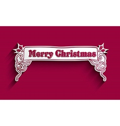 Merry Christmas vintage label vector image vector image