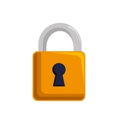 padlock lock security mobile design vector image