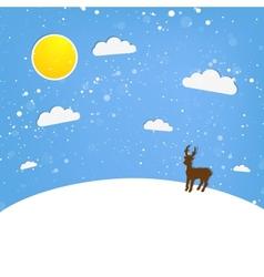 xmas of happy Reindeer vector image vector image