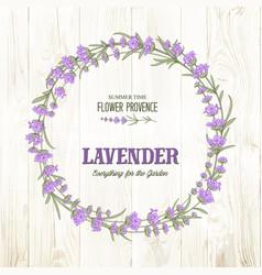 The lavender elegant wreath vector