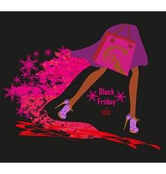 Black Friday card vector image