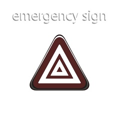 Car button of the alarm system vector image