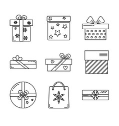 collection of gift box icons vector image