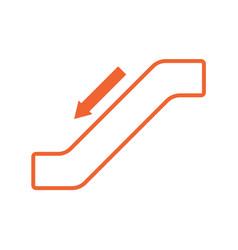 escalator staircase icon vector image