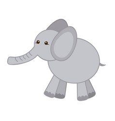 gray elephant icon stock vector image vector image
