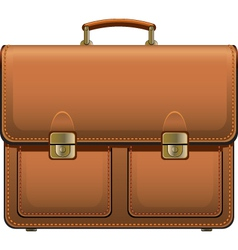 leather suitcase vector image vector image
