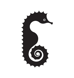 Seahorse Silhouette vector image vector image