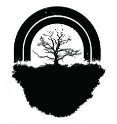 tree rainbow vector image