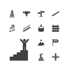 13 way icons vector