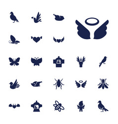 22 wing icons vector