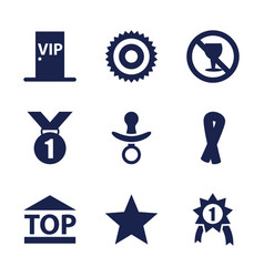 9 badge icons vector